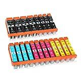 20 Druckerpatronen kompatibel für Canon PGI-550 CLI-551 XL mit Chip
