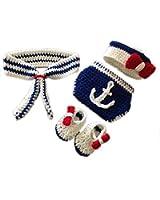 DAYAN Foto Prop neonato uncinetto maglia Fotografia di Moda Marina Bambino vestito per 3 - 4 Mesi