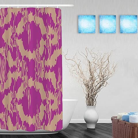 Distressed Moroccan Pattern Bathroom Shower Curtain Morden Style Home Decor Shower Curtains Waterproof Mildewproof Polyester Fabric Purple 36