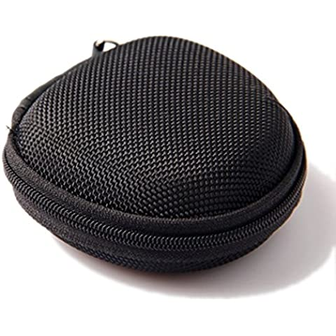 Cute Round Hard Storage Case for Earphone Headphone Earbuds SD