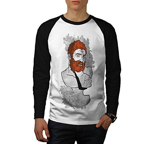 Mode Faust Schmerz Herren M Baseball lange Ärmel T-Shirt | Wellcoda (Griechische Männliche Kostüme)