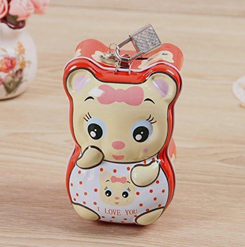SunnyGod Bidon en Fer Taille Blanc de Petite Taille Fer de Tirelire de Petit Animal Merveilleux (Rouge) f955b6