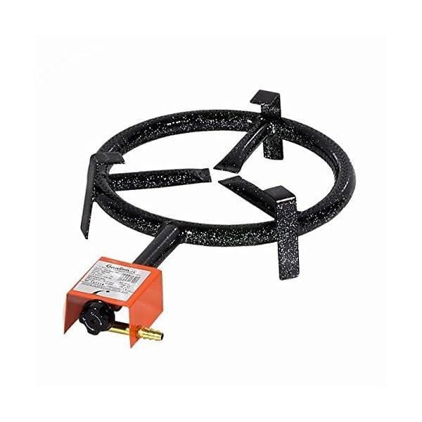 Garcima 76020 – Hornillo paellero gas plano, color Negro, 20 cm