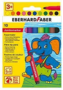 Eberhard Faber 551210 Extra-grueso 10pieza(s) - Rotulador (Extra-grueso,, Punta redonda, 3 año(s), 10 pieza(s), Caja de cartón)