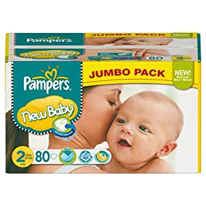 Pampers New Baby Size 2 (Mini) Jumbo Pack 80 Nappies