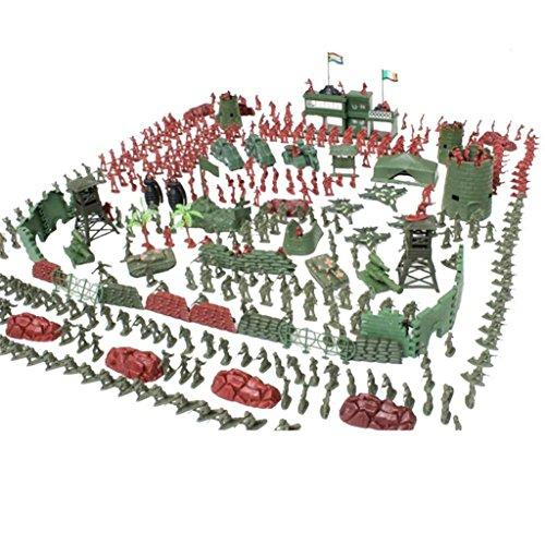 Fenteer 290/500 Stück 4cm Militär Armee Soldaten Aktion Figuren aus Kunststoff Kinder Spielzeug Für Armee Sand Szene Modell - 500 Stück (Militär Figuren)