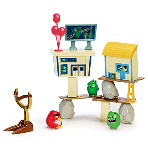 Image of Angry Birds Attack on Pig Island Playset
