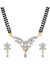 The Luxor Designer Gold Plated Australian Diamond Studded Beautiful Mangalsutra For Women