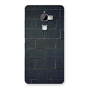 Impressive Black Wall Multicolor Grain Back Case Cover for LeTv Le Max