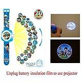 Digitale Projektion Armbanduhr mit 20 verschiedenen Paw Patrol Bilder,Digital Quarz-blaue Uhr für Kinder als Geschenk