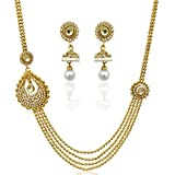 Pearl set bridal imitation jewellery fas...