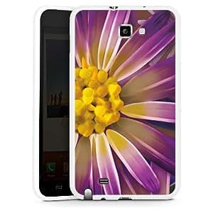 Samsung Galaxy Note Silikon Hülle Case Schutzhülle Lila Blume Flower