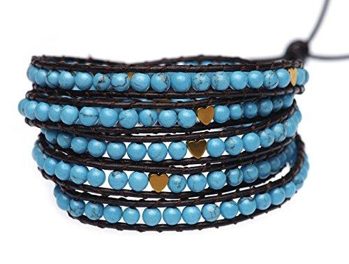 blueyes-collection-deeply-in-love-blau-trkis-perlen-herz-leder-armband-5packungen-4mm-bead