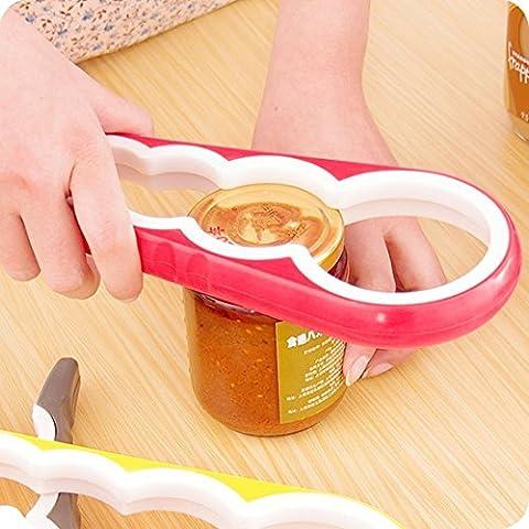 Couvercle universel Outil de terrassement / Ouverture de bouteille / Outil de cuisine Outil de cuisine Outil facile à tordre pour plusieurs tailles (couleurs au hasard)