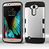 Space Silver/Black : Asmyna Phone Case for LG K10 - Space Silver/Black