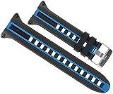 Cressi Armband Für Tauchen Computer Strap Leonardo, Schwarz/Blau, KZ770020
