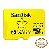 SanDisk MicroSDXC UHS-I Scheda per Nintendo Switch 256 GB, Giallo (Yellow)