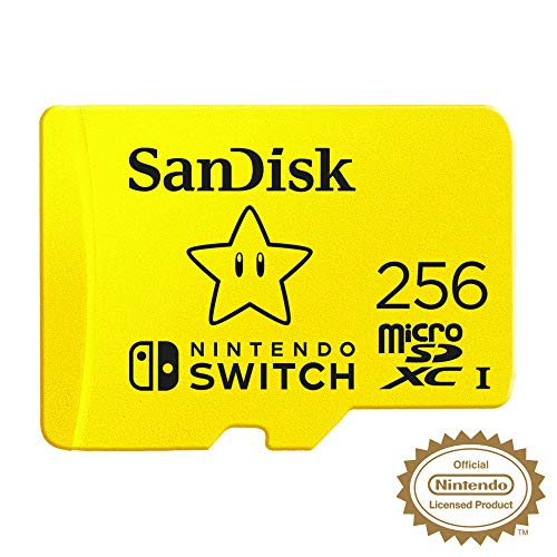 SanDisk - Tarjeta microSDXC de 256GB para Nintendo Switch