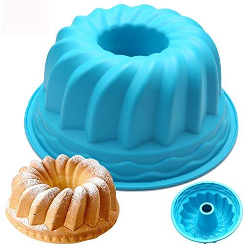 Wokee Flexxibel, Practical Silicone Ring Shaped Cake Pastry Bread Mold Mould Kitchenware,Backform für Gugelhupf aus Silikon, Bundform für eindrucksvolle Kreationen, hochwertige Silikon-Kuchenform - Silikon Moulds Molds