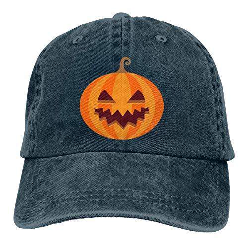 Xdevrbk Halloween's Pumpkin Unisex Washed Adjustable Vintage Cowboy Hat Denim Baseball Caps Fashion5