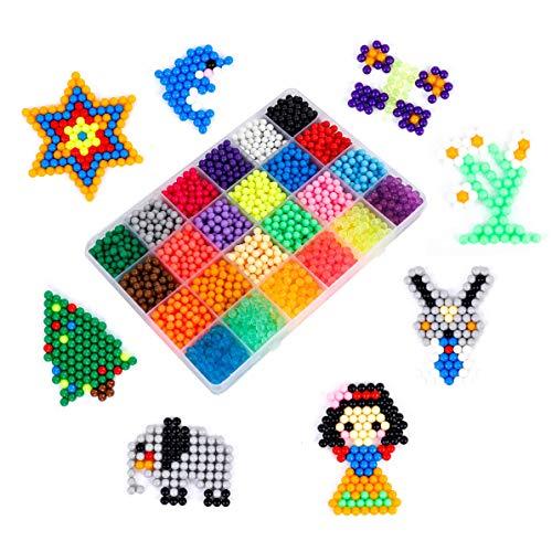 Magische Perlen Kinder Wasser Fuse Beads MAOXIN DIY Perlenspielzeug Bügelperlen 24 Farben Starter Bastelset 3000pcs