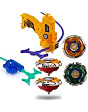 Wishkey High Speed Beyblade Metal Fusion Set with Launcher