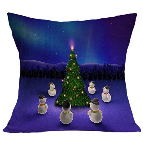 Feliz Chritmas !!! Funda de almohada,Longra cómodo y exquisito hogar y la decoración del sofá (B)
