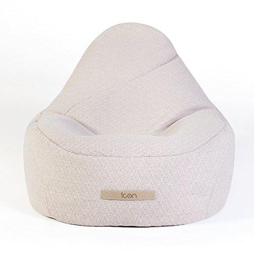 Icon Serenity Liege Sitzsack - Großer Moderner Luxus Sitzsack für Innen und Außen,...