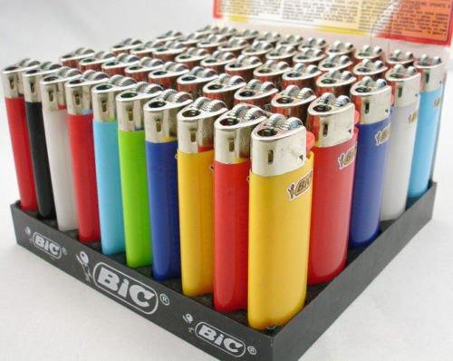 Classic BIC Maxi-Mecheros de gas encendedor de cigarrillos tamaño completo grande Pack de 5