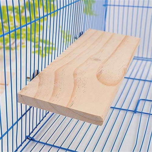 LLYWCM Holz Vogel Spaß Spielzeug Vogel Spiegel Vogelspielzeug Vogelständer für Papageien, Kratzen, Kauspielzeug und Stange Platte für Sitzstangen und Käfigzubehör