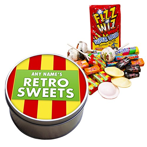 Personalised Old School Retro Sweets Tin. Add any name