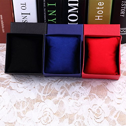 Present gift box case per braccialetto gioielli anello orecchini orologio da polso con scatola