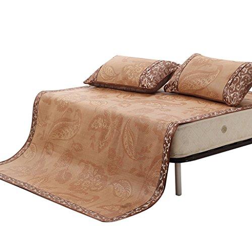 Liuyu · Tapis de textile à la maison Siège de rotin de trois pièces 1.8m se pliant Tapis de climatisation d'été de 1.5m Double siège souple doux de 1.2 Texture douce pour le stockage facile