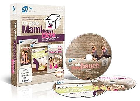 Die große Mami-Fitness-Box - Fit in der Schwangerschaft & nach der Geburt ++ (3 DVDs: Fit mit Babybauch, Meine Rückbildungsgymnastik & Pilates mit Baby) ++ Das perfekte Geschenk
