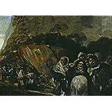 La demonología, magia, ocultismo y magia la peregrinación de SAN ISIDRO, detalle, de las pinturas negras de Francisco de Goya tarjeta del arte brillante c1819-23 250gsm A3 cartel de la reproducción