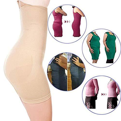 Damen Figurenformend Miederpants Miederhose Body Shape Bauch Kontrolle Unterwäsche Push-Up Po Und Butt Lifter Miederslip Höschen,Beige,XL/XXL - 2