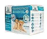 Trainingsunterlagen Für Welpen Hunde Puppy Pads (50 Stück) | Welpenunterlage Matten mit Lockstoff Scent | Absorbiert 200% mehr Flüssigkeit | 60cm x 60cm