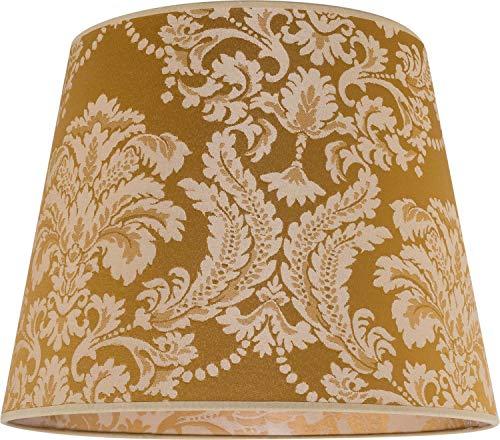 Eleganter Stoff Lampenschirm Gold Ø38cm Barock Design für E27 Stehlampe Schirm WILLOW