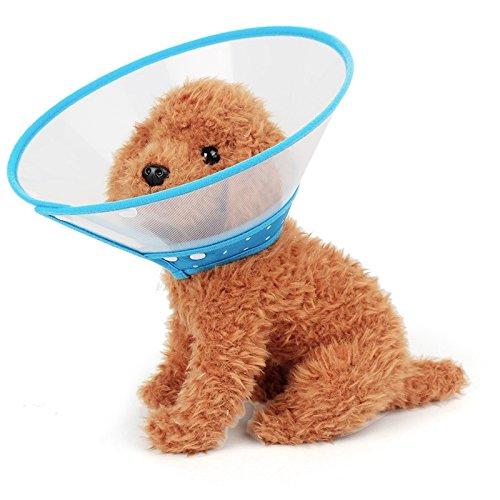 Jiuyue-pets Elizabeth - Cuello para Mascotas con Embudo antimordeduras y protección para el Cuello, tamaño S, Apto para Cuello de 15 a 20 cm