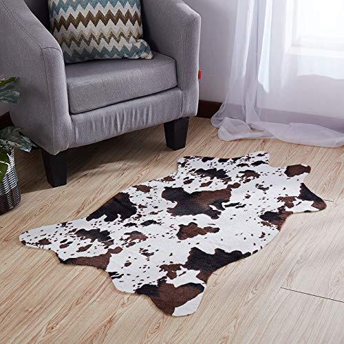 Teppich Wohnzimmer Kinderzimmer rutschfeste Samt Imitation Faux Skins Teppiche Giraffe Kuh Leopard Zebra Teppich 110 * 75Cm Teppiche Für Wohnzimmer Schlafzimmer 75X110Cm 1 -