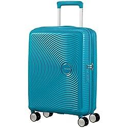 American Tourister - Soundbox Spinner Expandible, 55cm, 35,5/41 L - 2,6 KG, Azul (Summer Blue)