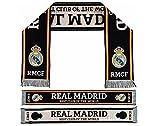 """REAL MADRID- Sciarpa Licenza Ufficiale """"BEST CLUB OF THE WORLD"""". Colore Nero (140 x 20cm)"""