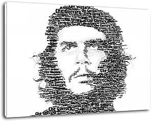 Che Guevara, la révolution cubaine, taille: 120x80 cm, peinture sur toile-couverts, des images énormes XXL complètement et totalement encadrées avec civière, d'impression d'art sur peinture murale avec cadre, moins cher que la peinture ou une image, pas d'affiches ou poster