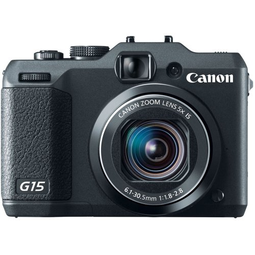 Canon PowerShot G15 12.1MP Point and Shoot Camera (Black) with 5x Optical Zoom