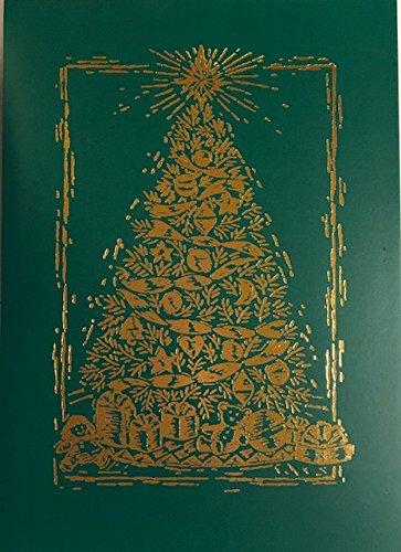 (20) Elegant Gold Folie geprägt Weihnachtsbaum Urlaub Karten-Ecru Briefumschläge, Elfenbeinfarben-A Very Merry Christmas (Schreiben Christmas Merry)