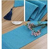 WDOPZMS Chemin De Table Runner Plaine Lavable-Toile De Jute Table Runner Table Basse...