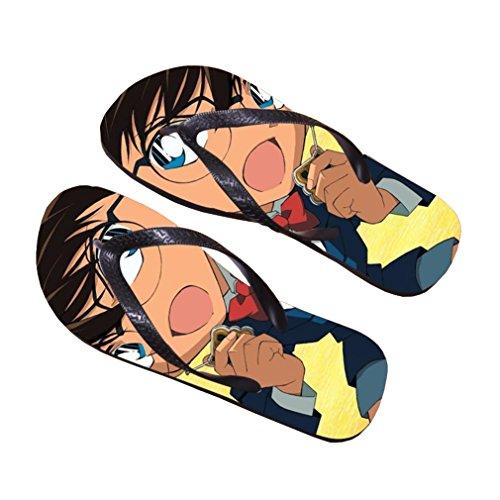Bromeo Detective Conan Anime Aleta Unisex Fracassos Toe Trenner Chinelos 645
