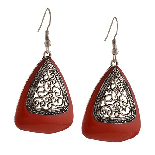 Zephyrr Jewellery Ethnic Hook Earrings with Cutwork design for Girls and Women  available at amazon for Rs.169