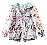 Arrowhunt Baby Girls Long Sleeves Cartoon Wind Hooded Jacket