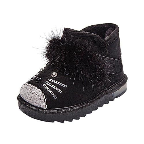 Chaussures Bébé Binggong Enfants en Bas Âge Dessin Animé Fourrure Chaud Bébé Garçons Filles Chaussures Lumineuses Sneakers Bottes